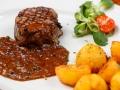 Stek wołowy w sosie pieprzowym